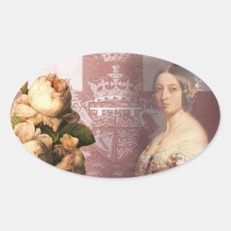 Vintage Queen Victoria Oval Sticker