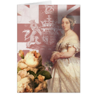 Vintage Queen Victoria Thank You Card