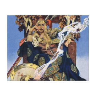 Vintage Queen Warrior Woman Gallery Wrap Canvas