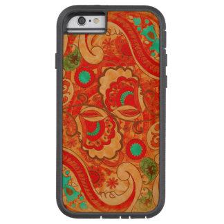 Vintage quemado enrrollado Paisley de la turquesa Funda Para iPhone 6 Tough Xtreme