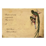 Vintage Quetzal Bird Elegant Response card Announcements