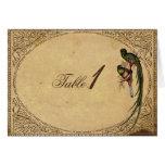 Vintage Quetzal Bird Elegant Table Number card