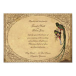 Vintage Quetzal Bird Elegant Wedding Invitation