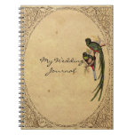 Vintage Quetzal Bird Elegant Wedding Journal Spiral Notebooks