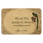Vintage Quetzal Bird Wedding Save the Date Magnet