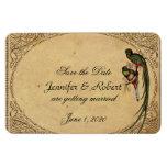 Vintage Quetzal Bird Wedding Save the Date Rectangular Photo Magnet