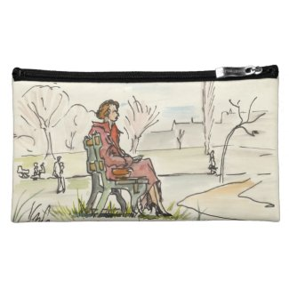 Vintage Quiet Moment Cosmetic Bag