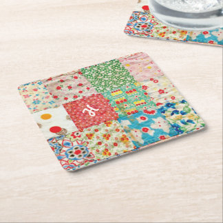 Vintage Quilt Pattern Paper Coaster