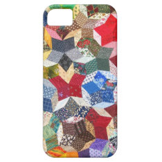 Vintage Quilt Seamstress Geometric Pattern Iphone Se/5/5s Case at Zazzle
