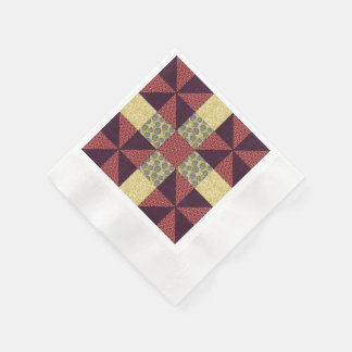 Vintage Quilting Pattern 1 - Coined Paper Napkin
