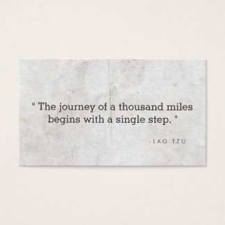 Vintage Quote Business Card for Authors, Writers