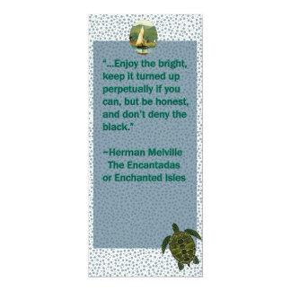 Vintage quote turtle and boat bookmark invite