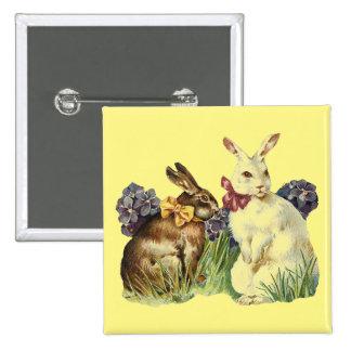 Vintage Rabbits Button