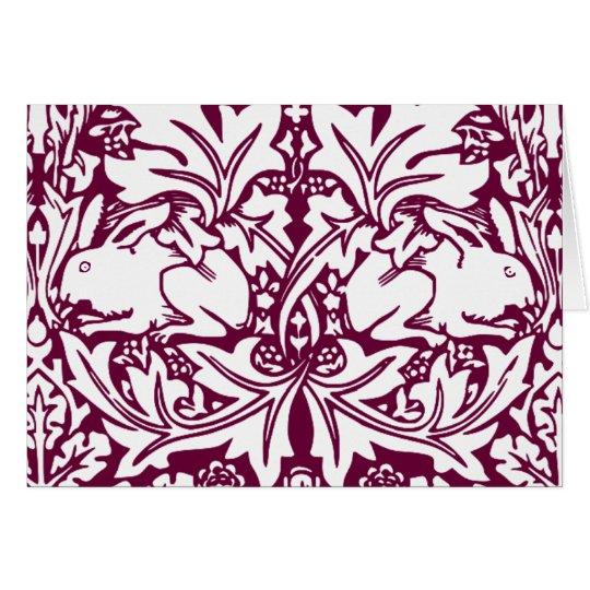 Vintage Rabbits Card