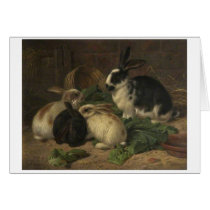 Vintage - Rabbits Eating Lettuce,