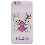 Vintage Rabbits With Easter Egg Phone Case Barely There iPhone 6 Plus Case