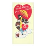 Vintage Raccoon Valentine Photo Card