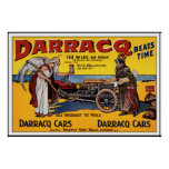 Vintage race car Poster: Darracq Car advertisement