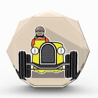 vintage race car with driver award
