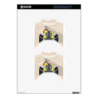 vintage race car with driver xbox 360 controller skins