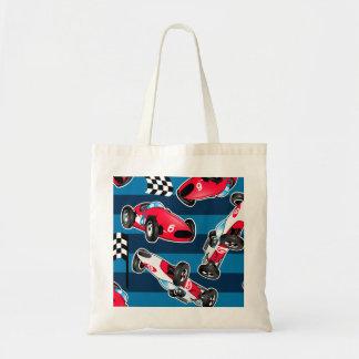 Vintage race cars tote bag
