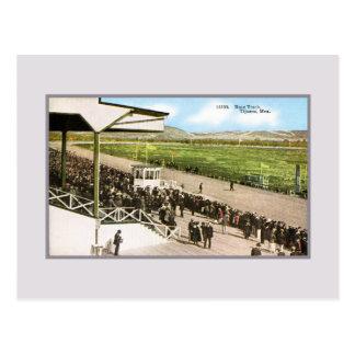 Vintage Race track (horse racing) Tijuana Mexico Postcard