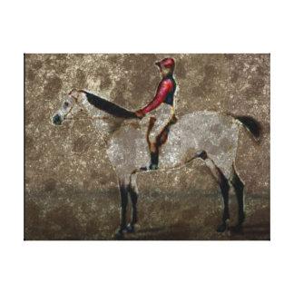Vintage Racehorse Canvas Print