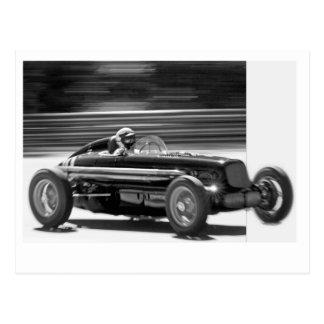 Vintage Racer Postcard