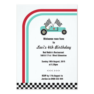 Vintage Racing Car Invitation