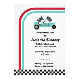 Vintage Racing Car Invitation