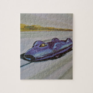 Vintage Racing Car  Puzzle/Jigsaw with Tin Jigsaw Puzzle