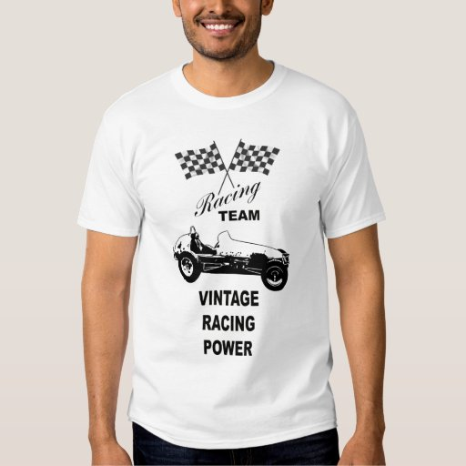 vintage racing logo t shirt zazzle