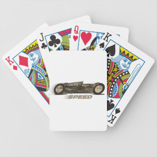 """Vintage Racing Sports Car """"SPEED"""" Forward Motion Bicycle Playing Cards"""