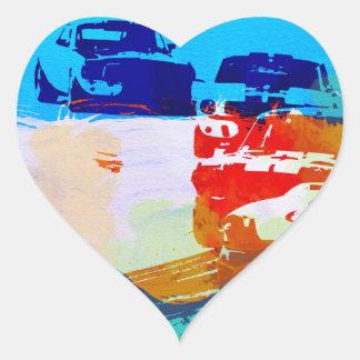 Vintage Racing Heart Sticker
