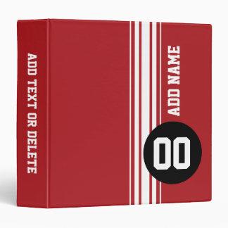 Vintage Racing Stripes - Red and Black Binder