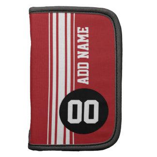 Vintage Racing Stripes - Red and Black Planner