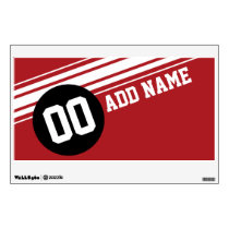 Vintage Racing Stripes - Red and Black Wall Sticker