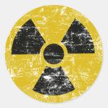 Vintage radiactivo etiquetas redondas