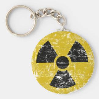 Vintage radiactivo llavero redondo tipo pin