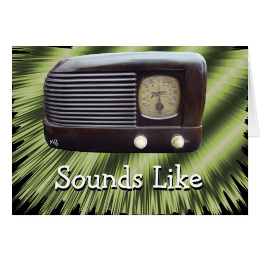 Vintage Radio2-customize any occasion Greeting Card