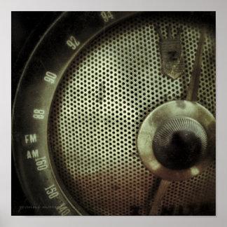 Vintage Radio 2 Square Print