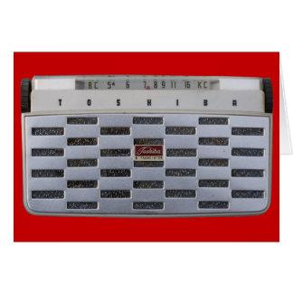 Vintage Radio Blank Card