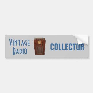 VINTAGE RADIO bumper sticker
