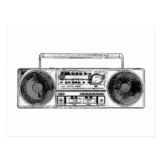 Vintage Radio Design Postcard