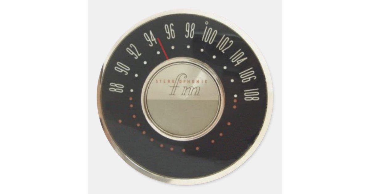 Vintage Radio Dial Classic Round Sticker | Zazzle.com