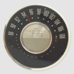 Vintage Radio Dial Round Sticker