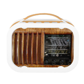 Vintage Radio in Wood - Lunch Box