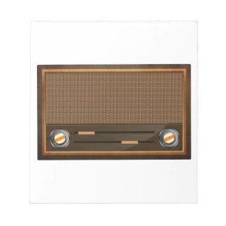 Vintage radio memo pads