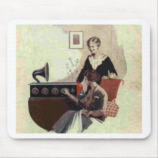 vintage radio paint 1900s mousemat