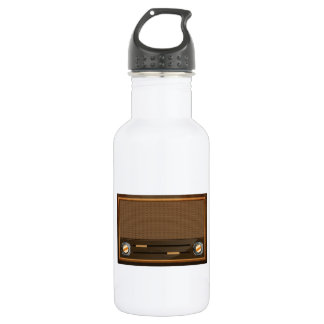 Vintage radio 18oz water bottle